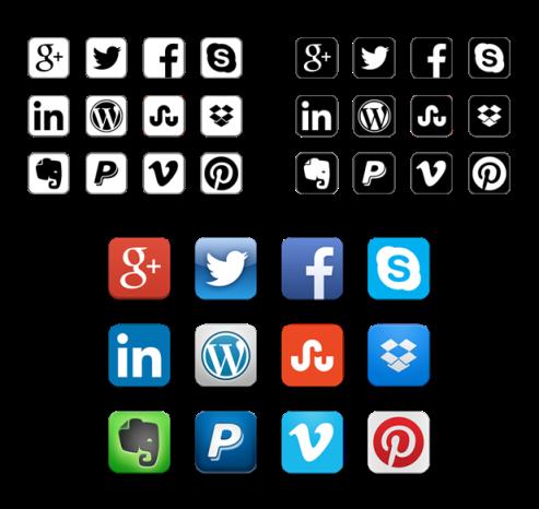 Popular Monocrhome Icons