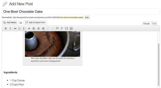 Adding your first recipe is easy. Simply add a new post using your blog's administration tool. Don't forget to add in a tasty images too!