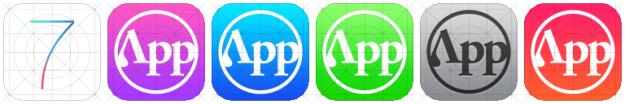 iOS 7 Icon Grid Appifier App Icon PSD