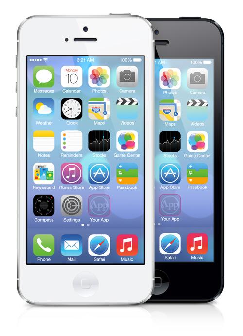 iPhone5 iOS7 PSD